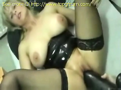 Huge dildo and tight pussy!