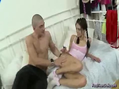 Real teen doll hardcore fucked and deepthroat sex for cum