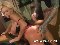 Naughty Blonde Wive Spanked